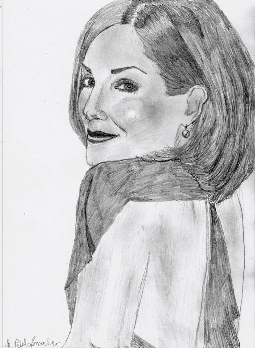 Sandra Bullock by sunflower